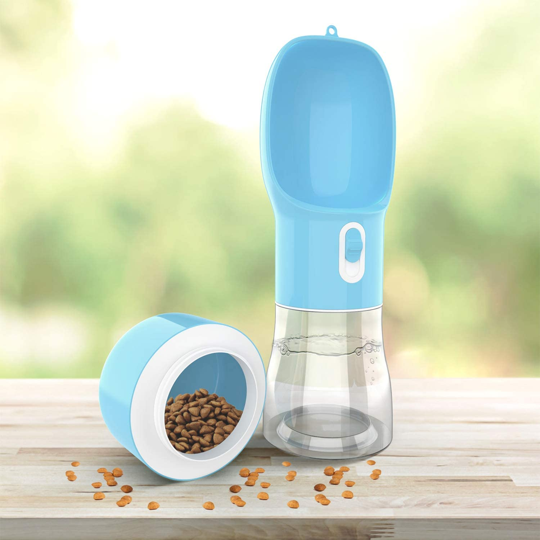 CROWNY Dog Water Bottle- Lightweight Dog Travel Upgraded Pet Water Bottle,Leak Proof Multifunctional Water Bottle for Pets Outdoor Walking, Hiking, Travel (Blue)