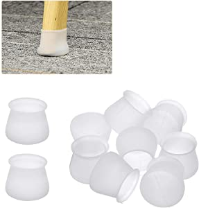 Furniture Silicone Protection Cover, LIUMY 32Pcs Chair Legs Floor Caps, Furniture Leg Silicon Protectors - Anti-Slip, Prevents Scratches and Noise Without Leaving Marks