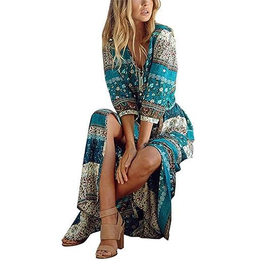 e0bac226d8d Amazon.com  KMG Bohemian Long Dress