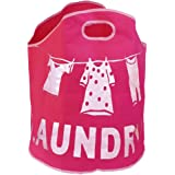 FunkyBuys® Designer Large Laundry Bags Polyester - PINK Clothes Line