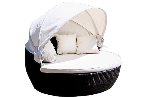 Rattan sonnenmuschel  Amazon.de: Lounge Insel 170 cm Sonnenmuschel Sonneninsel Liege Relax