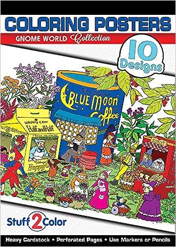 Amazon.com: Gnome World - Premium Adult Coloring Book (10 Posters ...
