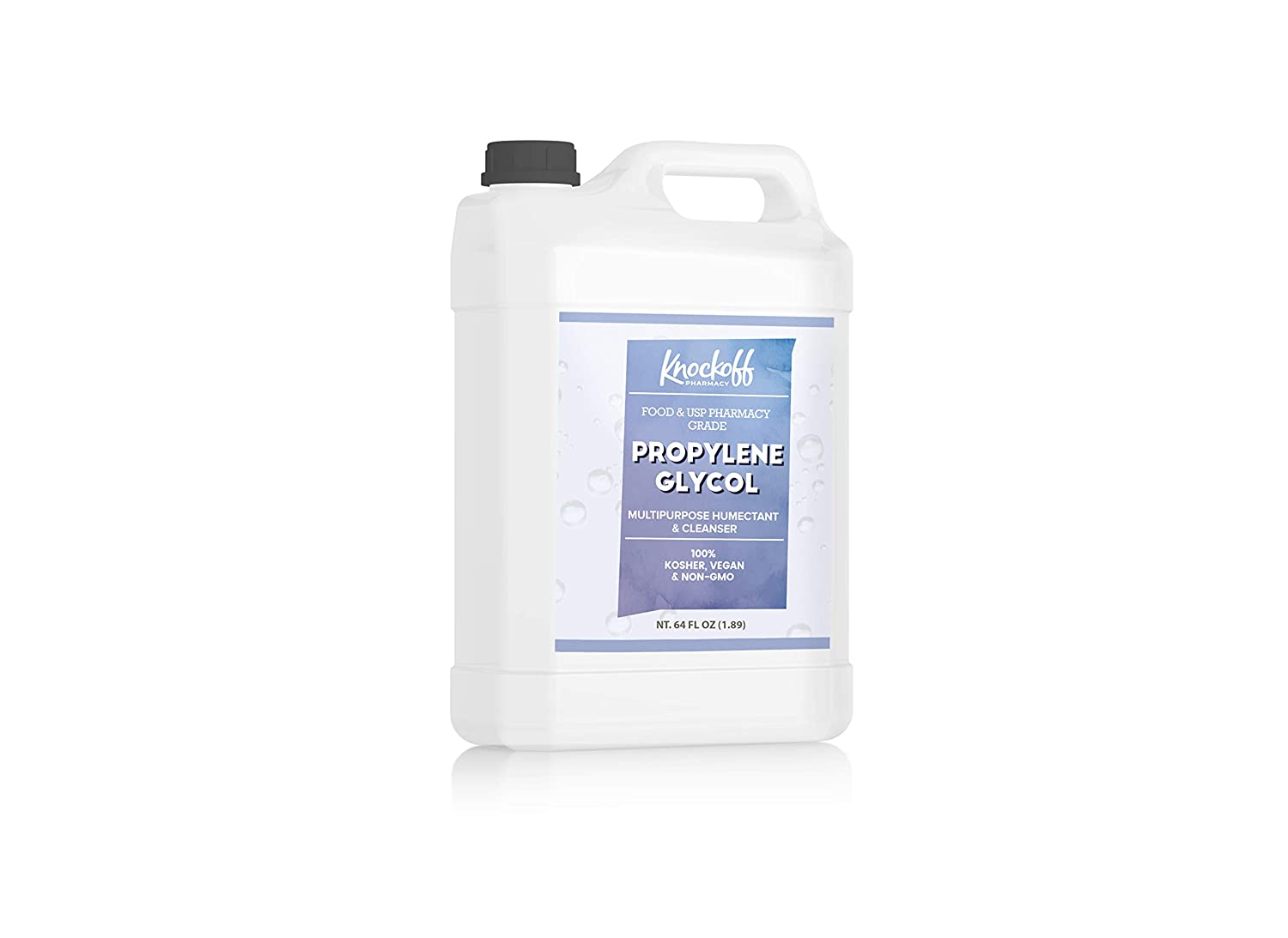 Propylene Glycol Half Gallon (64 oz.) by Knock Off Pharmacy, 100% Pure, Food & Pharmaceutical Grade, Hypoallergenic Moisturizer & Skin Cleanser