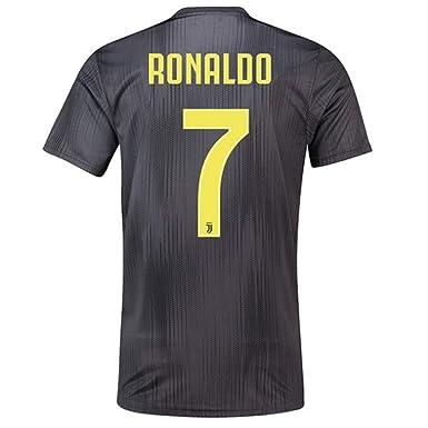 163ad86d4ac SALLARM Juventus Away  7 C Ronaldo 2018-2019 Soccer Jersey Mens Black (S