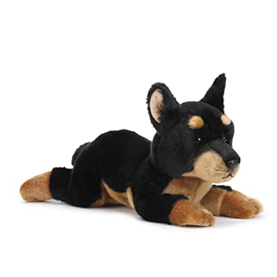 Nat and Jules Alert Large Doberman Pinscher Dog Children's Plush Stuffed Animal Toy : Baby