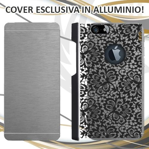 CUSTODIA COVER CASE SPOSA RICAMO WEDDING PER IPHONE 5 ALLUMINIO TRASPARENTE