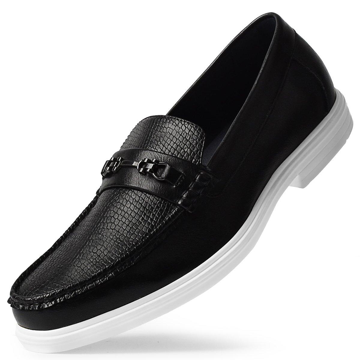 ECOSI Men'sDrivingShoesSlip-onLoaferModernItalianStyle Black 9