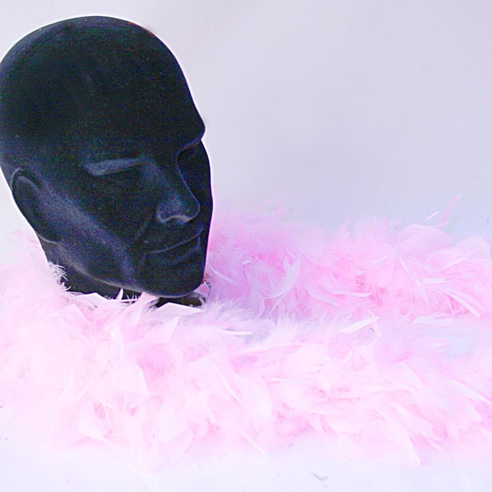 52605 Sinister - Bufanda de plumas, unos 180 cm, color: rosa Boland