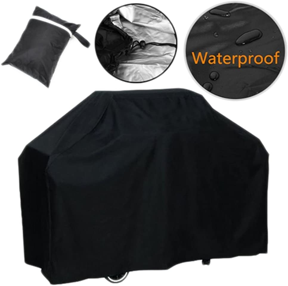 WeiMay barbecue copertura barbecue copertura antipolvere UV Pioggia di grande tavolo da giardino patio copertura della sedia nero 145*61*117/cm 145*61*117cm Black-1