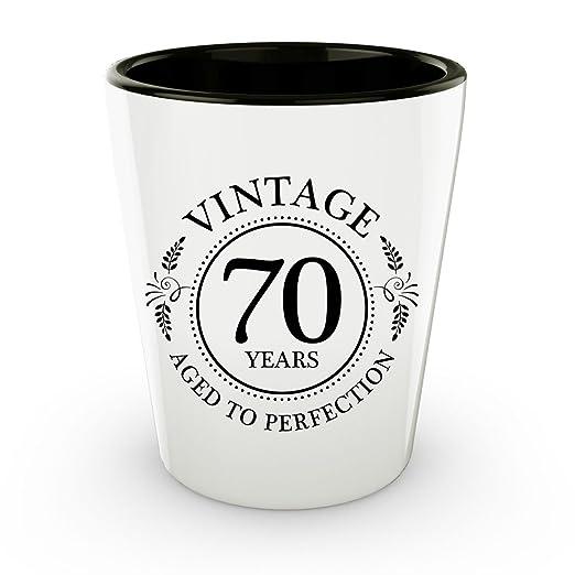 70th cumpleaños vasos de chupito - 70 años - años a la ...