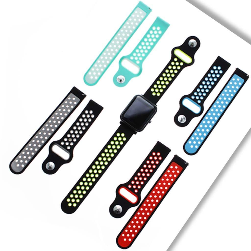 Jiamins - Correa de Silicona Universal para Reloj Inteligente Xiaomi Huami Amazfit Bip TICWATCH2 Gear Sport WELOOP (20 mm)