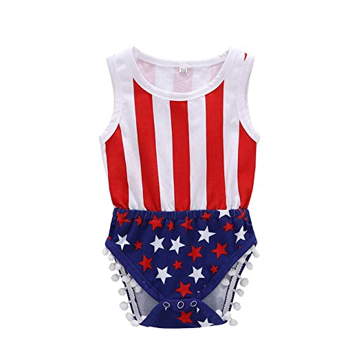 Newborn Baby Boy Girl 4th Of July Stars/&Striped Romper Jumpsuit Bodysuit Outfits