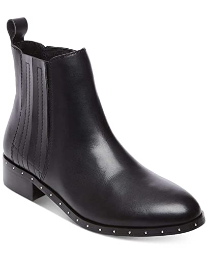 77c50ab71f8 Amazon.com | Steve Madden Womens Orchid Leather Ankle Booties, Black ...