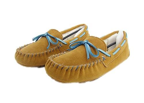 Summer Mae Mujer Mocasines Clásico Con Lazo Bailarina Peludo: Amazon.es: Zapatos y complementos