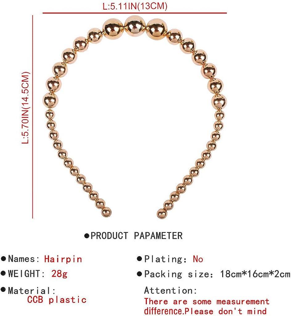 Senoow Europ/éenne R/étro Glitter Imitation Perle Perles Bandeau Femmes De Mari/ée De Mariage Partie Cheveux Cerceau Grand Petit Bijoux Styling Casque