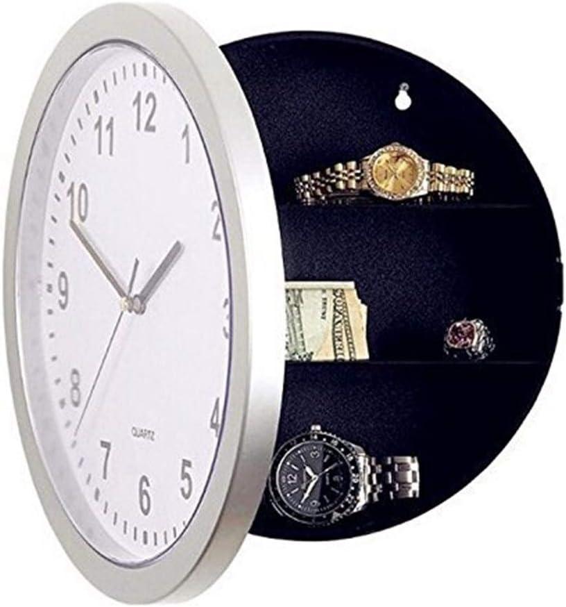 Cesta Armario Rejilla Caja de plástico Joyas Reloj de pared: moderno, moderno, elegante, elegante, silencioso, antirrobo, sin tictac, cocina / sala de estar familiar, caja fuerte for reloj, caja de se