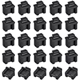 uxcell 20pcs SFP Silicone Protectors Cap Port Cover Anti Dust 14mmx12mmx17mm Black