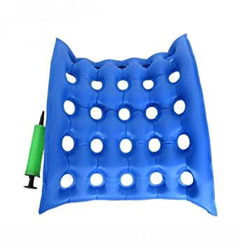 AntiBedsore - Cojín de asiento para silla de ruedas Decubitus con cojín de aire inflable, colchón de aire para sentarse durante mucho tiempo, ...