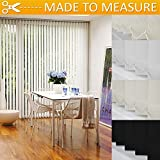 Vertical Blinds - Made to measure - Custom made - Multiple designs and colours available (White Blackout, Up to 210cm Width x Up to 240cm Drop)