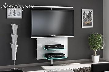 Tv rack drehbar  TV Wand H-999 Weiß Hochglanz drehbar TV Rack LCD inkl. TV ...