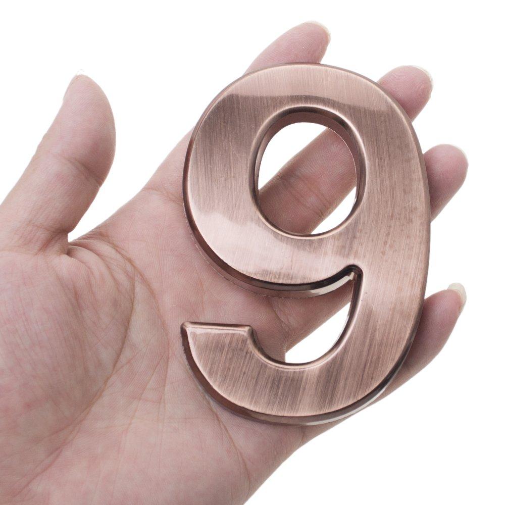 Num/éros De Porte Personnalis/és Maison Adresse Signe Argent Nombre Moderne Plaque Num/éro Maison H/ôtel Porte Adresse Chiffres Autocollant Plaque Signe 0-9