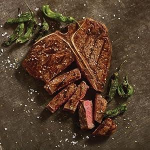 Omaha Steaks T-Bone Steaks + Seasoning