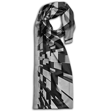 Amazon Com Geometry Scarf Big Oblong Long Scarves Casual Checked