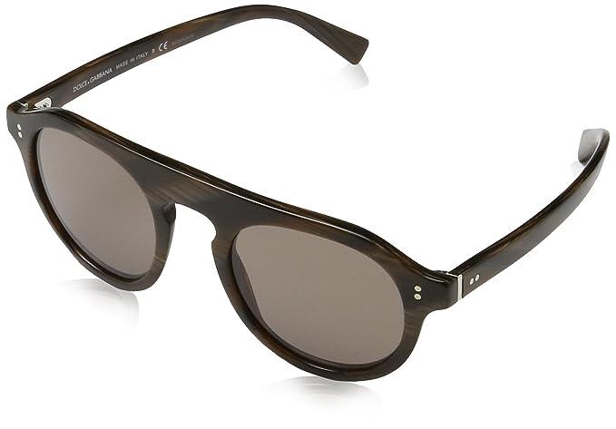 Mens 0DG4306 31184R Sunglasses, Striped Bordeaux/Brown, 50 Dolce & Gabbana