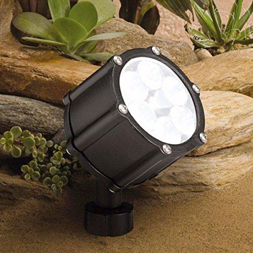 ガーデンライト 庭園灯 12V LED スポット 6LED (狭角 中角 広角)スポットライト 照明 屋外 看板 電球色 8.5W B0765W81Q6