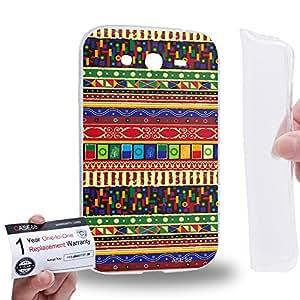 Case88 [Samsung Galaxy Grand Duos i9082 i9080] Gel TPU Carcasa/Funda & Tarjeta de garantía - Art Aztec Carpet Tarot A