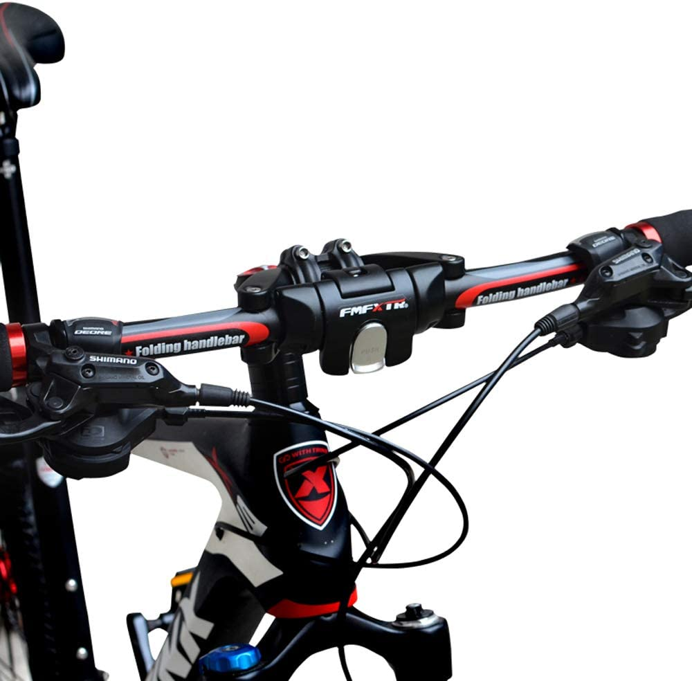 per Scooter da Bici Manubrio Bici Pieghevole Delaman Manubrio della Bici Accessorio di Ricambio Fai da Te Manubrio Bici Pieghevole Barra A Sgancio Rapido Pieghevole in Lega di Alluminio