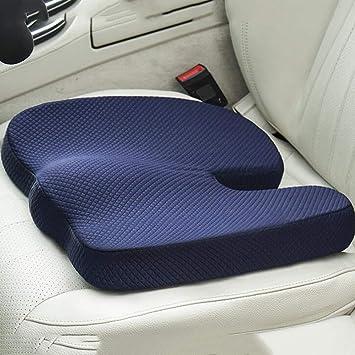 Doifck Memory Foam Seat Cushion Lumbar Back Support Pillow ...