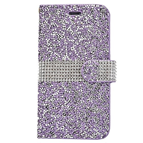 Rhinestone Leather Protective Magnetic Closure