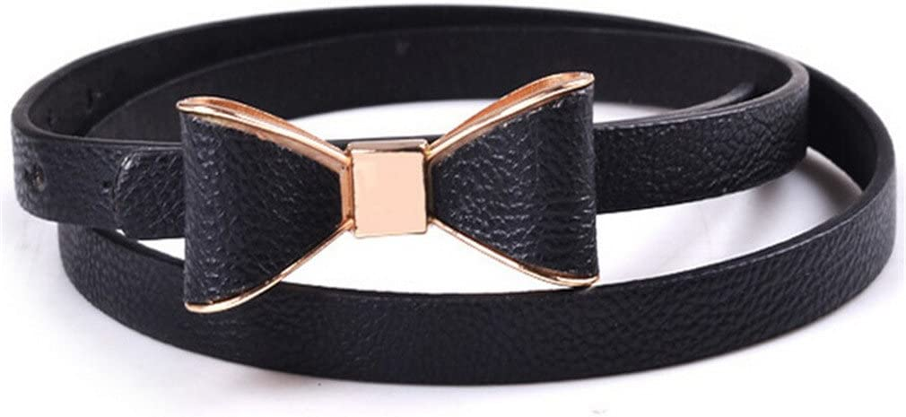 Fashion Womens Girl Cute Sweet Candy Colors Bowknot PU Leather Thin Skinny Waistband Belt For Dress Hot Drop Shipping 0174