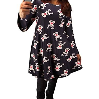 d8672b5f1f Womens Xmas Christmas Dress