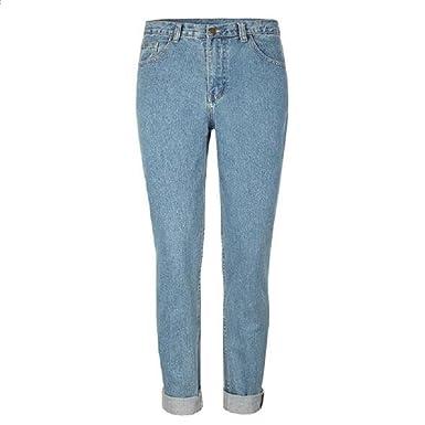 2e618619ca03e1 Women Fashion Summer Blue Slim Pencil Pants Denim Zipper Pants at ...