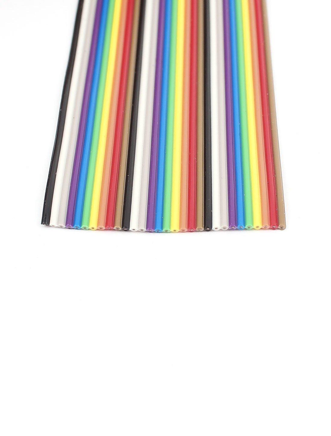 Cinta Plana eDealMax IDC Cable de alambre DE 1,27 mm 30Pin 10 pies Color del arco iris