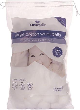 12 paquetes de 100 bolas de algodón Cottontails, tamaño grande ...
