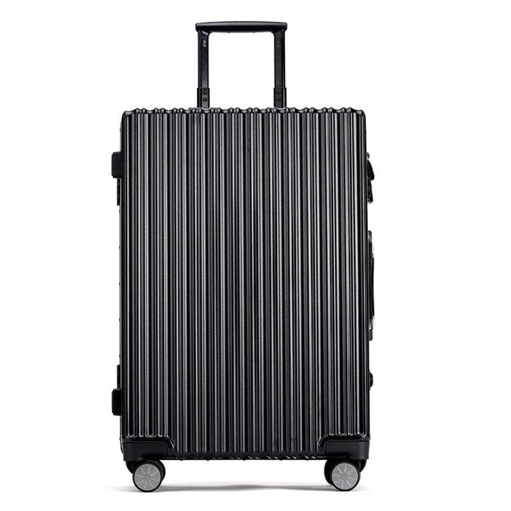 Hongsheng Smart Fingerprint Unlocking Solar Rechargeable Innovative 20 Inch Travel Trolley Luggage Business,Black