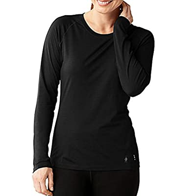 smartwool Women's Merino 150 Baselayer Long Sleeve Black L & E-Tip Glove Bundle