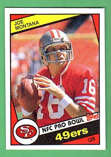 Joe Montana 1984 Topps Football (Great Centering) (Super Bowl Year) **Hall of Famer** (49ers) ()