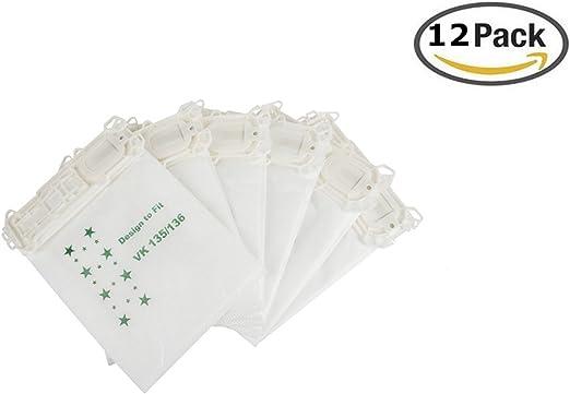 Bolsas para aspiradora Vorwerk – Kobold 135/136/135sc/VK135/VK ...