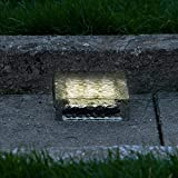 "Our durable, 6"" glass bricks are built to illuminate the dark corners of your outdoor spaces. Once switched on, these landscape lights are maintenance free; the interior solar panel acts as a renewable source of power for the rechargeable bat..."