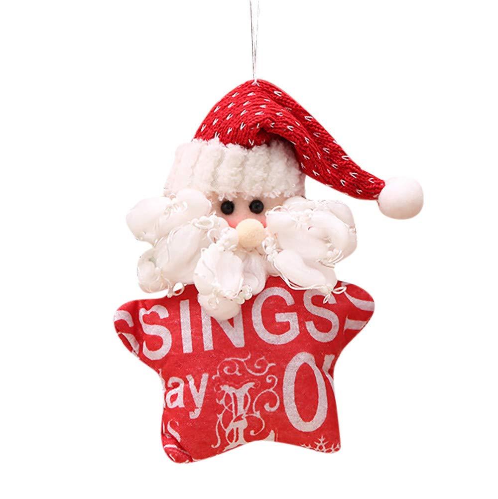 HOLD+HIGH Christmas Ornaments Doll Gift Santa Claus Snowman Tree Toy Hang Decorations (Santa)