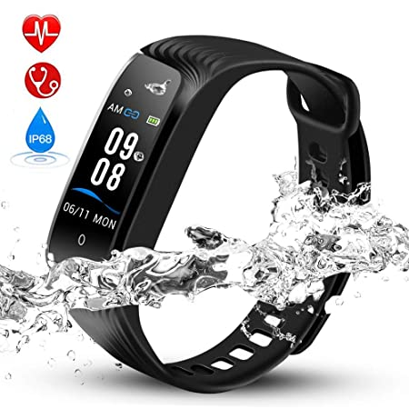 Hommie IP68 Waterproof Fitness Tracker with Color Screen, Activity Tracker with Heart Rate Monitor, Blood Pressure, Sleep Monitor, Pedometer for Men, Women, Kids