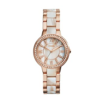 83ce6c26710 Buy Fossil Virginia Analog Mother of Pearl Dial Women s Watch - ES3716  Online at Low Prices in India - Amazon.in