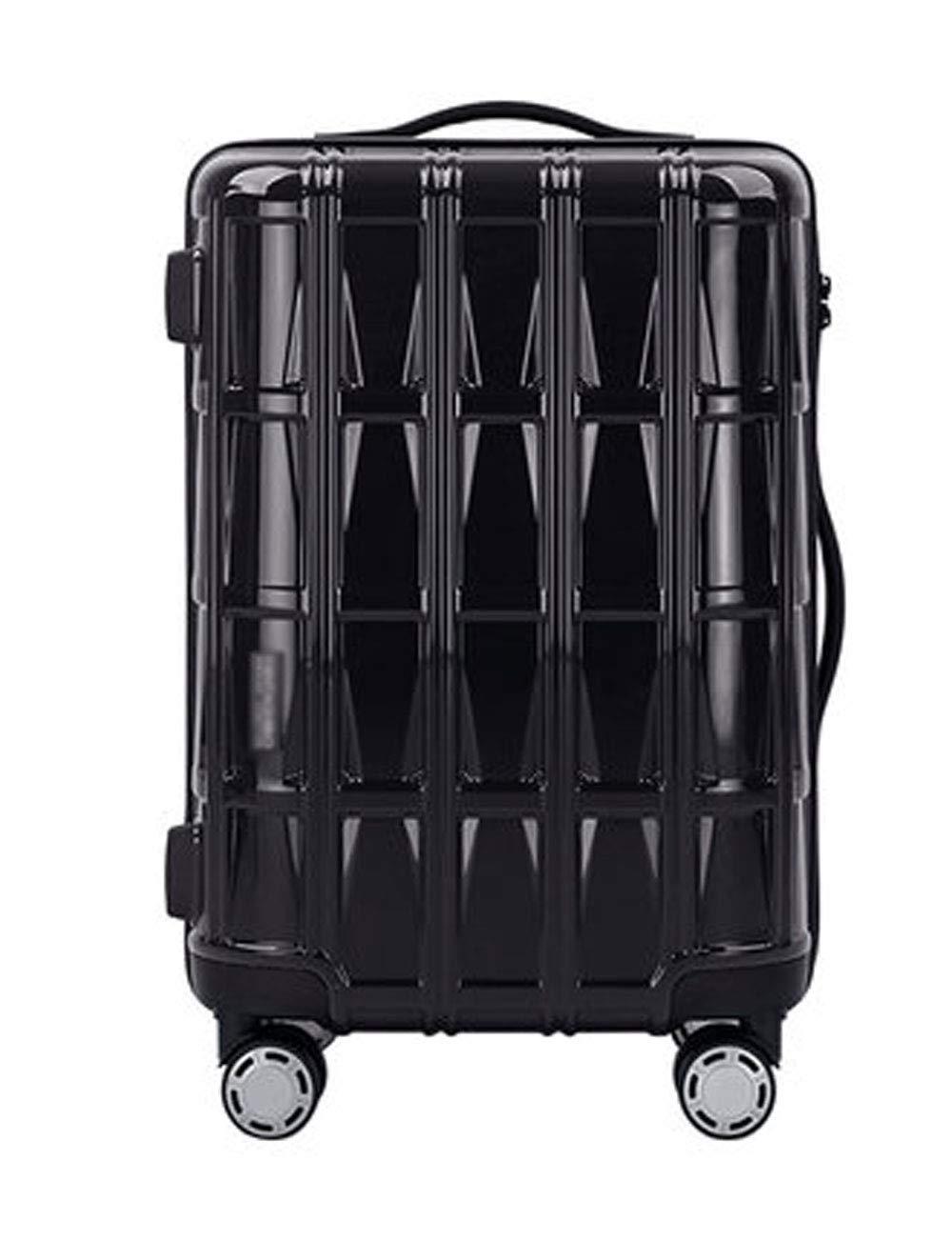 軽量ABSハードケース旅行スーツケース、360度回転ローラー、小型搭乗ケース36cm * 23cm * 50cm (色 : 黒)   B07GR4B821