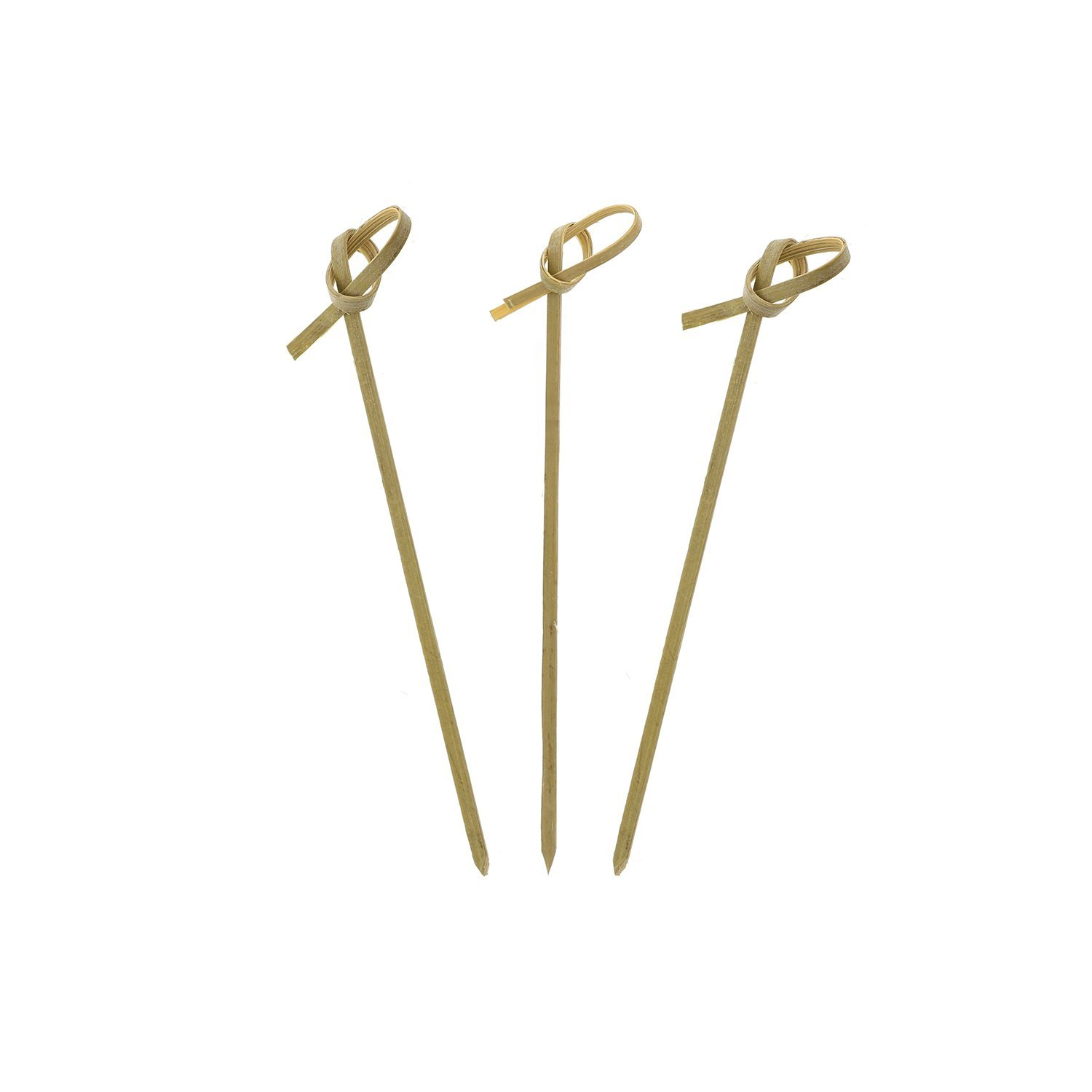 Royal Bamboo Knot Cocktail and Hors' D'oeuvre Pick, 4-Inch, Green - 100 ct PJP R209BBBCL120