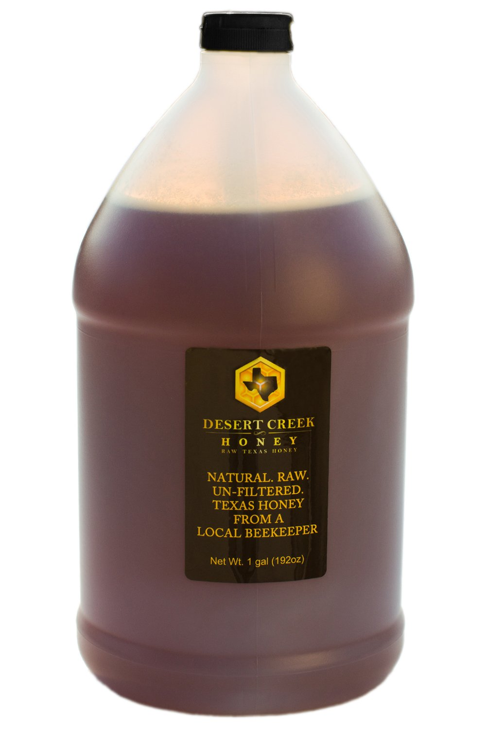 Raw, Unfiltered, Unpasteurized Texas Honey by Desert Creek Honey 12lbs, 1 Gallon Non-GMO, Kosher