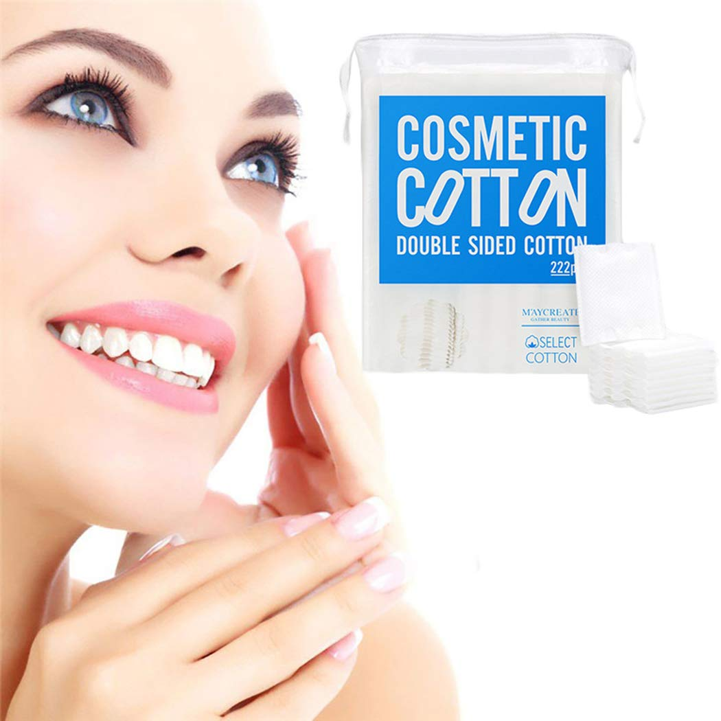 Almohadillas de Algodón de Maquillaje, Kapmore 6 Paquetes de Toallitas Desmaquillantes 100% Algodón Almohadillas de Algodón Suave de Limpieza Facial Fáciles ...